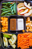 Snack Tray of Fruit and Vegetables Stock Image