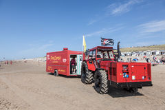 Snack truck on the beach in Netherlands Royalty Free Stock Photos