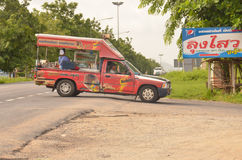 Snack truck. One of hundreds of food conveyances plying their trade on the streets of Pattaya, Thailand Royalty Free Stock Photos