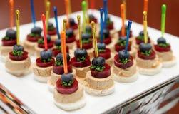 Snack van foiegras en marmelade stock fotografie