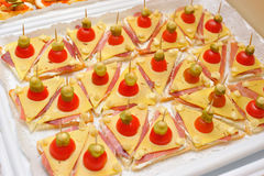 Snack van kleine sandwiches Royalty-vrije Stock Fotografie
