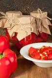 Snack van rode paprika Royalty-vrije Stock Afbeeldingen