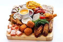Snack various meat products Royalty Free Stock Photo