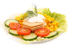 Snack with vegetables Stock Image
