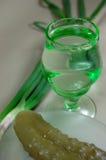 Snack for vodka Stock Image