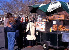 Snack wagon, New York. Stock Photography