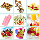Snacking sain pour la collection d'enfants Images libres de droits