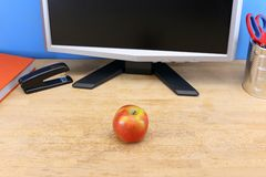 Snacking at work Royalty Free Stock Photos