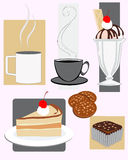 Snacks. Vector illustration of assorted cafe snacks Royalty Free Stock Photos
