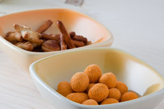 Snacks for aperitif Royalty Free Stock Images