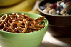 Snacks in Bowls Royalty Free Stock Photography