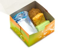 Snacks in box. Royalty Free Stock Image