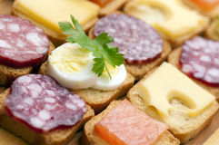Snacks for buffet Royalty Free Stock Image