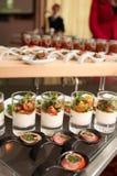 Snacks on buffet table Stock Photos