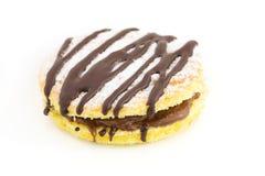 Snacks Chocolate. Small cake with a chocolate hazelnut filling Stock Image