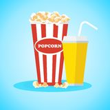 Snacks at cinema Royalty Free Stock Images