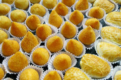 Snacks on display Stock Photography
