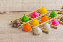 Snacks on dry wood Stock Photography