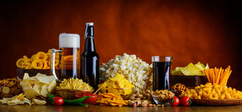 Snacks en dranken royalty-vrije stock foto's