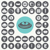 Snacks icons set. Stock Image