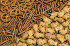 Snacks mix. Three different types stock image