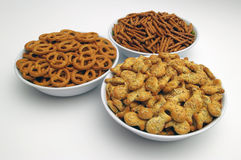 Snacks mix. Three different types Stock Image