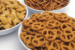 Snacks mix. Three different types royalty free stock photo