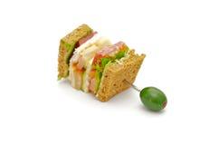 Snacks Of Classical BLT Club Sandwich Stock Photos