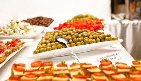 Snacks With Olives Royalty Free Stock Photos