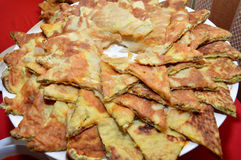 Snacks omelet Royalty Free Stock Images