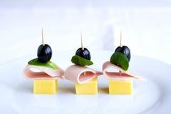 Snacks op plaat Royalty-vrije Stock Foto's