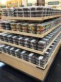 Snacks on shelves selling Stock Photos