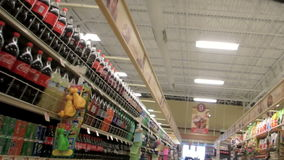 Snacks and Sodas stock video footage