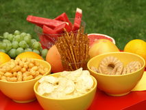 Snacks for teen party Stock Photos