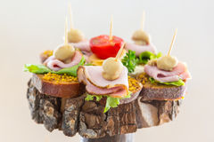 Snacks on the tree. Banquet feasts Royalty Free Stock Images