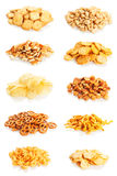 Snacks variety stock image