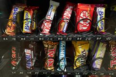 Snacks Vending Machine royalty free stock images