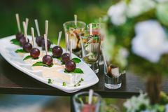 Snacks voor cocktail party Royalty-vrije Stock Afbeeldingen