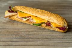 Snacksandwichnahaufnahme Stockfoto