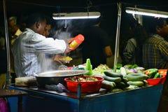 Snacksbox bij Kovalam-Strand Stock Foto's