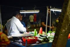 Snacksbox bij Kovalam-Strand Stock Afbeelding