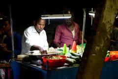Snacksbox bij Kovalam-Strand Stock Foto