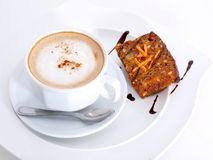 Snacktime with coffee and cake Royalty Free Stock Image