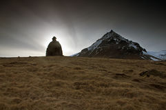 Snaefells Vulkan in Island Lizenzfreies Stockbild