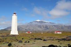Snaefellsjokull山在冰岛。 免版税库存图片