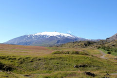 Snaefellsjokull山在冰岛。 免版税库存照片
