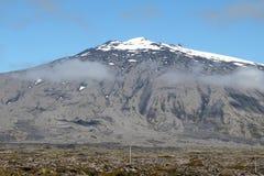Snaefellsjokull山在冰岛。 库存照片