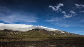 Snaefellsjokull glaciär på den Snaefellsnes halvön iceland royaltyfri foto