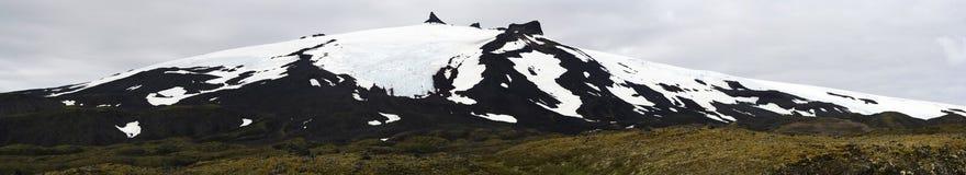 Snaefellsjokull volcano, Snaefellsnes, western Iceland Stock Photography
