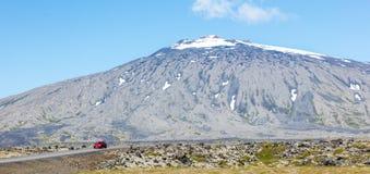 Snaefellsjokull wulkan w Snaefellsnes półwysepie, zachodni lód Zdjęcia Royalty Free